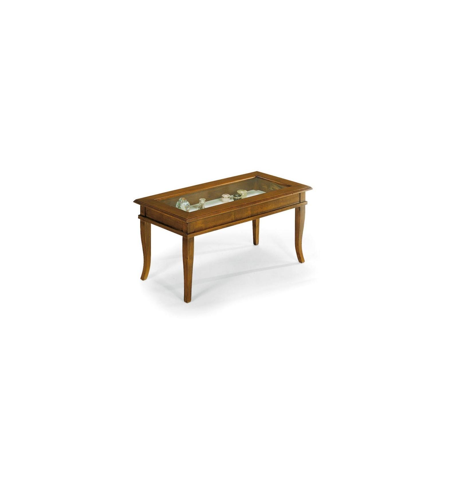 Tavolino rettangolare da salotto Classico con vetro W63N