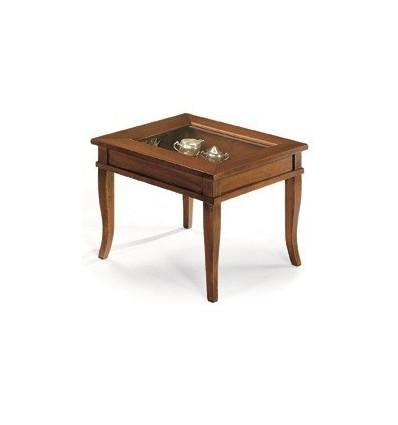 Tavolino quadrato da salotto Classico con vetro W64N  Lo