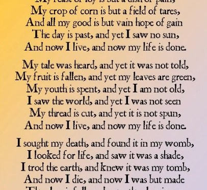 And Once Again about Tichborne's Elegy
