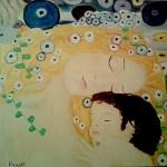 Mi versión suavizada de  madre e hija de Klimt