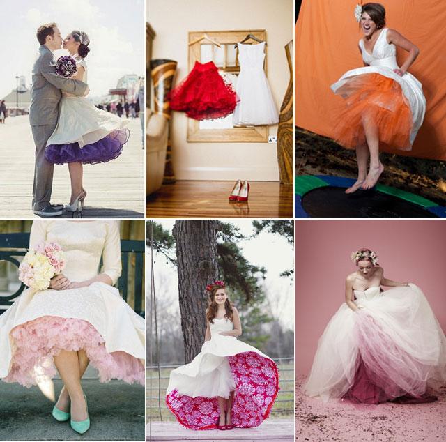 Tul de colores para vestidos de novia