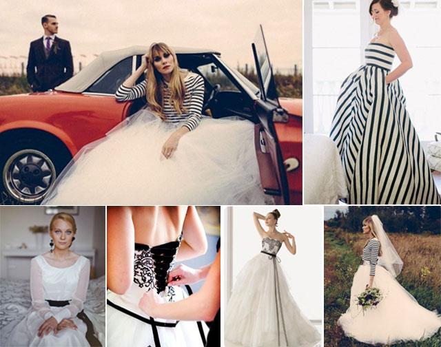 Vestidos de novia en blanco y negro