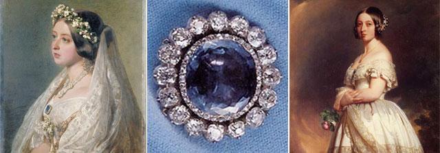Zafiro azul Reina Victoria