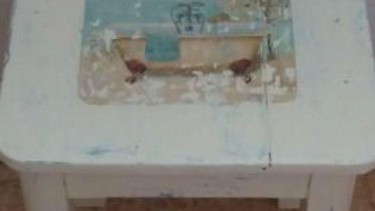 Restauración taburete baño (2ª parte)