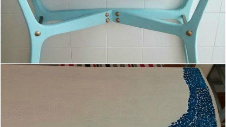 Restauración de la mesa y el espejo de la Tia Rosita