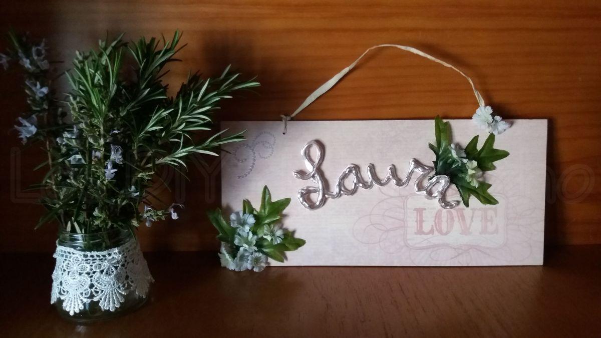 DIY... Cómo hacer un letrero con madera reciclada