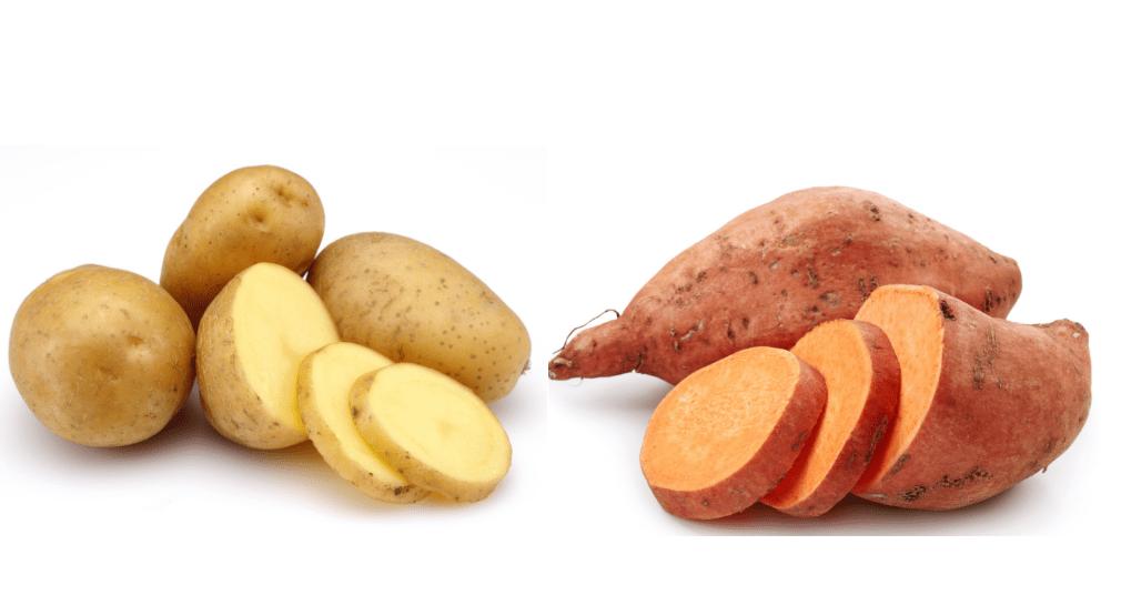 Health fact of sweet potatoes and potatoes