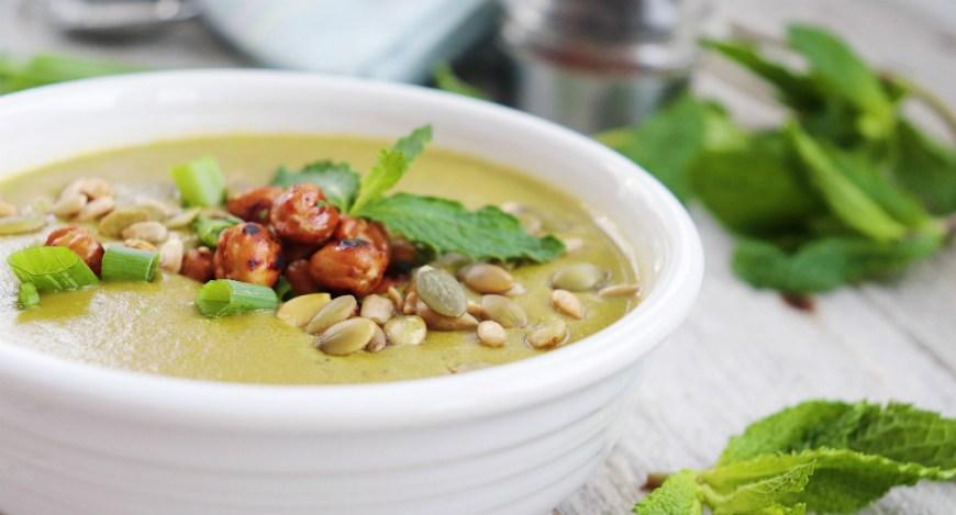 mint pea soup 1