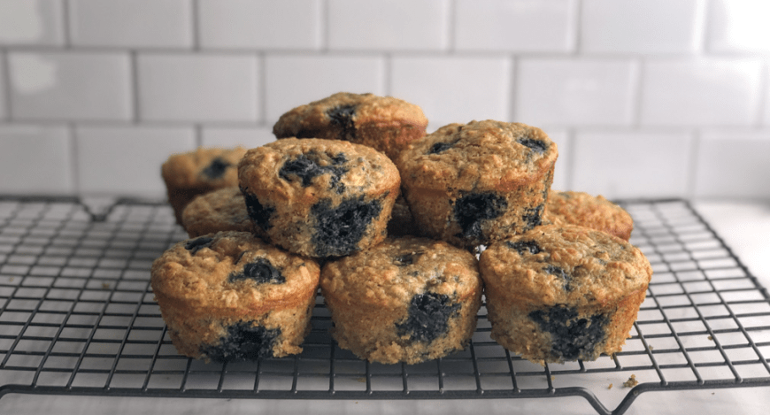 Healthy blueberry zucchini muffins