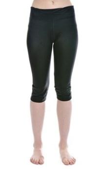 Black Lycra Capri Exercise Wear
