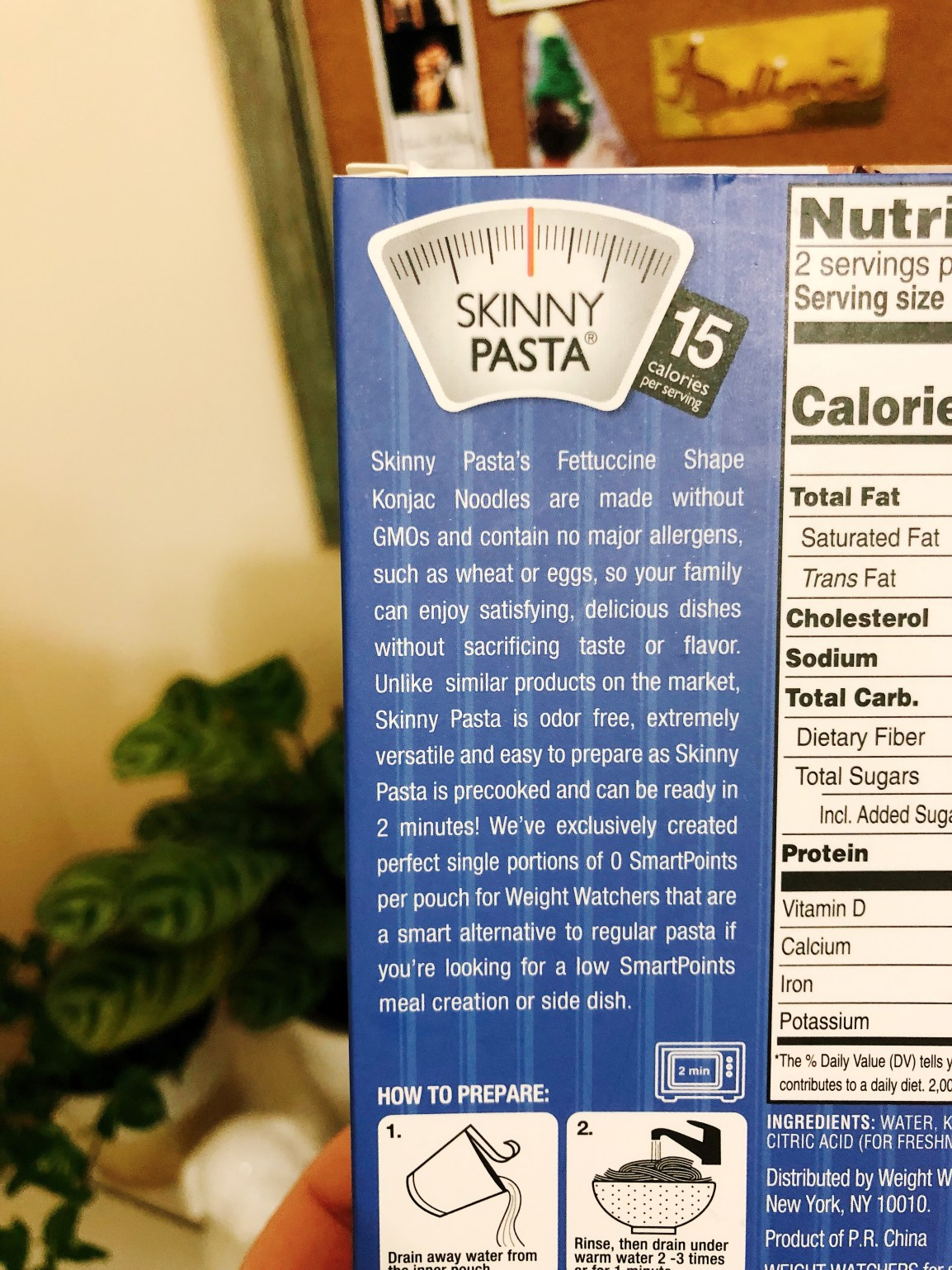 Weight Watchers Skinny Pasta back
