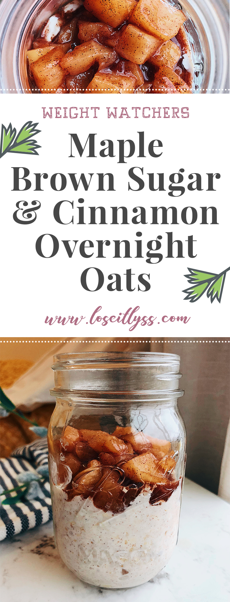 Weight Watchers Overnight Oats pin