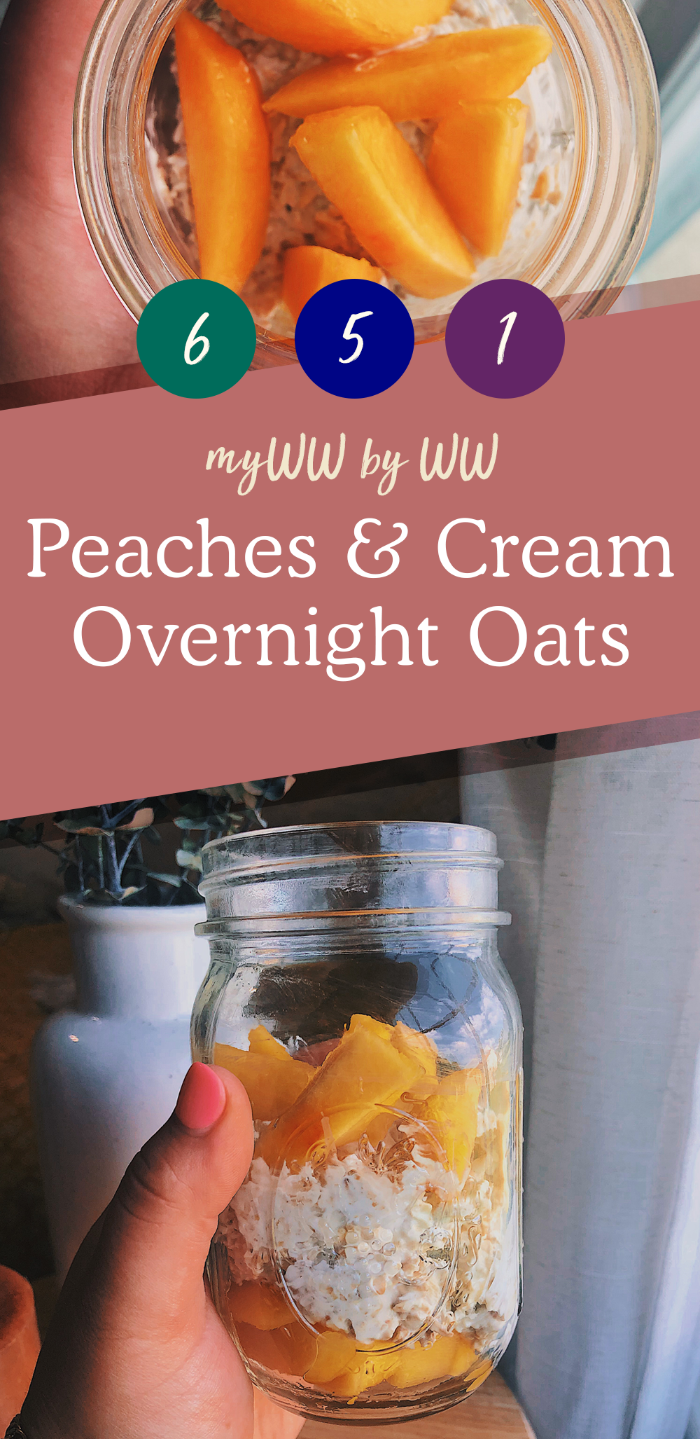 2020 Pinterest Template peach oats