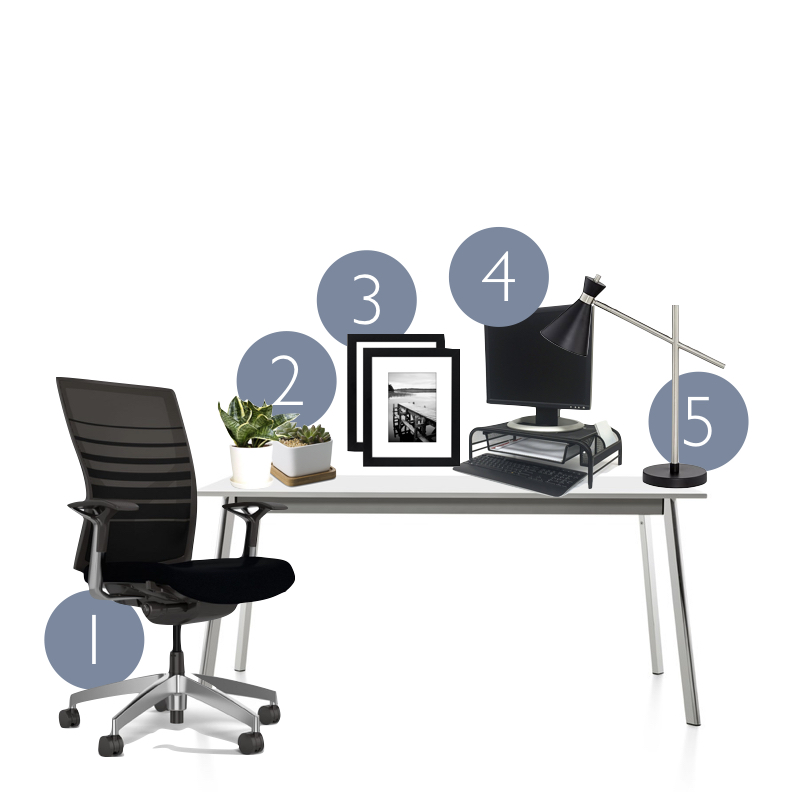 5 ways to redesign your office desk space this lost mama for Redesign your office