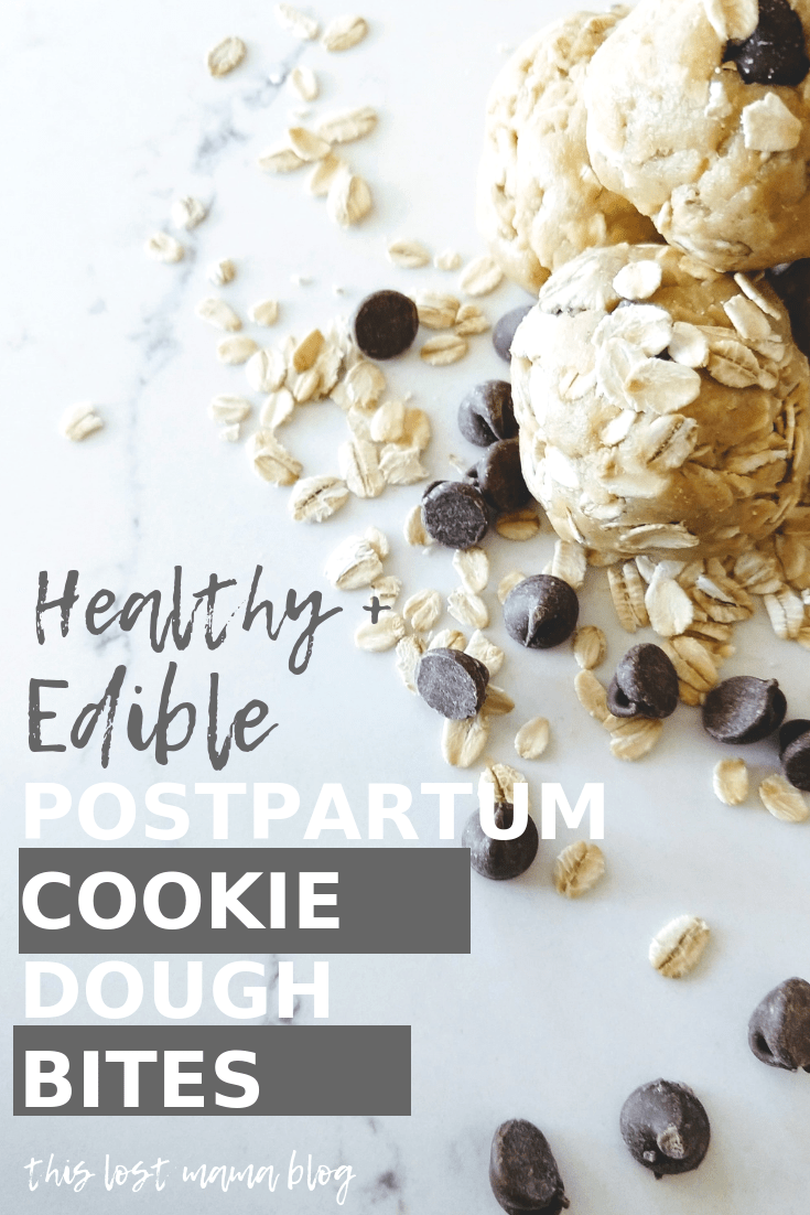 Edible cookie dough bites for snacking