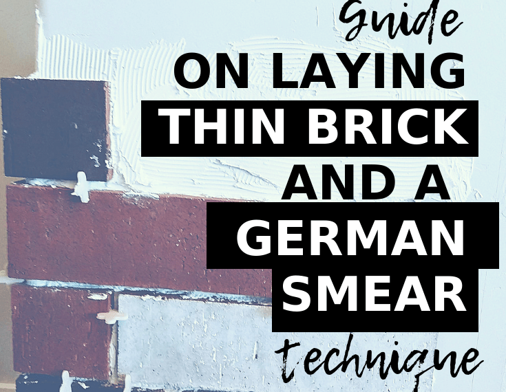german smear diy and thin brick installation