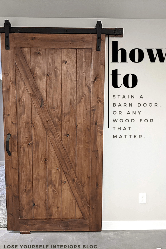 how to stain a barn door