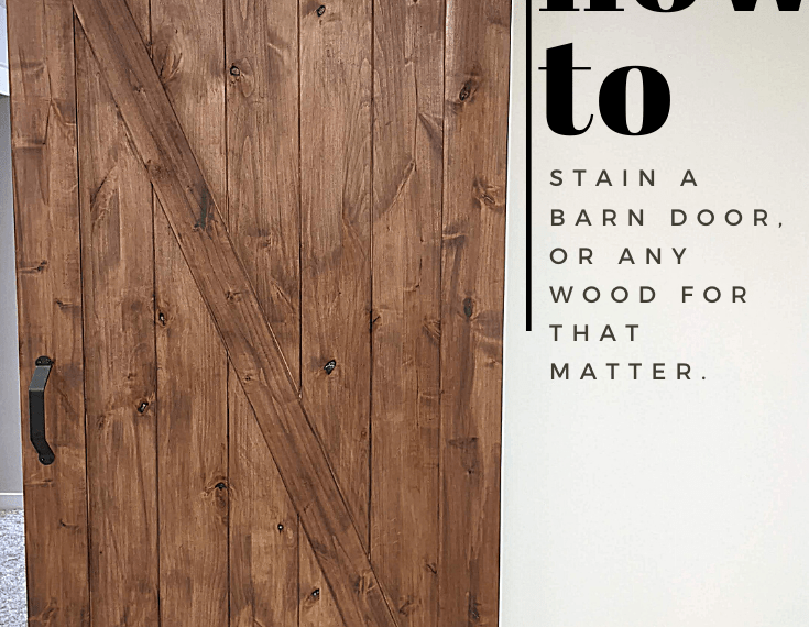 how you can stain and install your own barn door