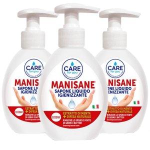 Care For You Manisane Sapone Liquido Igienizzante Multipack 3 Confezioni