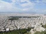 La inmensidad de Atenas vista desde el monte Lycavittos