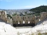 Teatro de Herodes Atticus. En este anfiteatro aún se dan a día de hoy conciertos y obras de teatro durante los meses de verano.
