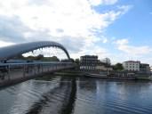 Beautiful sight of the Bernatek foot-bridge.