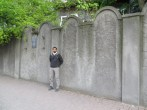 Graves-like wall constructed to confine the Jewish inside the Jewish Quarter.