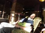 Nap's time in a cozy café
