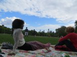 Nikita enjoying a lovely afternoon in Central Park