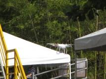 Ahí va, el tercer dron del viaje... tras Atenas, y Miami, llegó el reportero del Desfile de Silleteros.