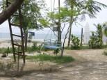 Desde el jardin del hostel teníamos vistas y acceso directo al mar! oh yeah!