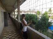Alambrada para evitar el suicidio de los prisioneros