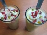 Un descansito en para tomarnos un Papaya Lassi y un Mango Lassi con topping. Yummmiiiiiii