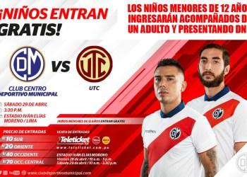 Deportivo Municipal enfrenta al UTC en Villa El Salvador