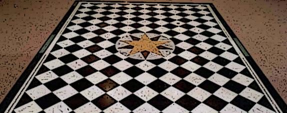 símbolo masoneria piso