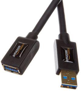 AmazonBasics - Cable alargador USB 3.0 tipo A-macho a tipo A-hembra