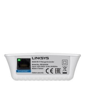 Extensor de red WiFi Linksys RE3000W-EJ - conector Ethernet