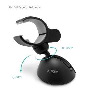 Soporte para teléfonos móviles en el coche AUKEY - giros