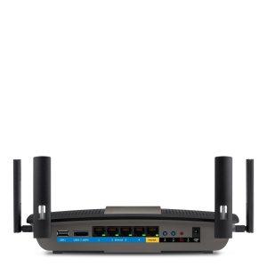 buen router para casas grandes - router WiFi Linksys E8350-EJ - parte trasera