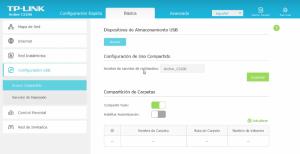 Configuración TP Link configuración usb