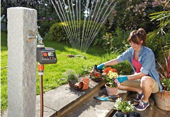 Programador de riego para manguera Gardena