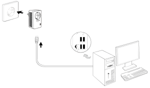 Conectar el kit PLC TP-Link TL-PA4010P 3