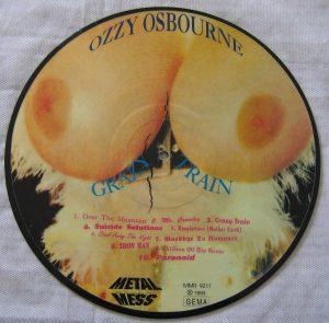 Cara B de un curioso 'picture-disc' lanzado en Alemania en 1993 por el sello Metal Mess.