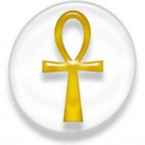 """el Ank que significa """"vida o la llave de la vida o cruz con asa egipcia"""""""
