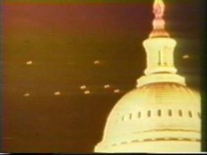 Casa Blanca 1952 avistamiento Ovnis sobrevolando sobre la cúpula.