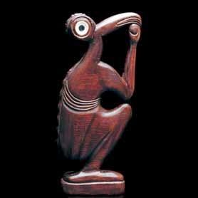 Estatua hallada en la Isla de Pascua.