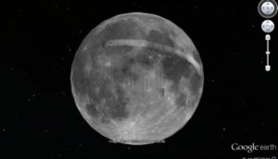 La Luna según Google Earth en la actualidad.