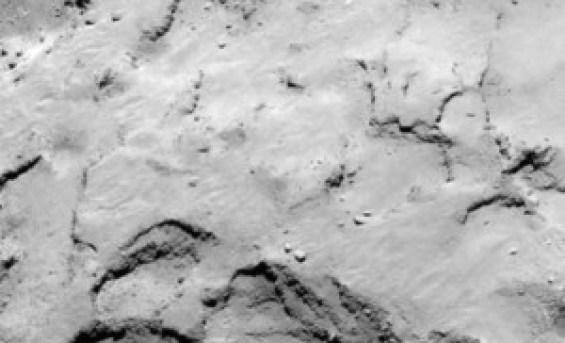 """Esta es la Zona """"J"""" donde finalmente descendió el módulo Philae."""