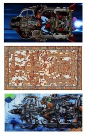 Nave-espacial-Maya-en-inscr