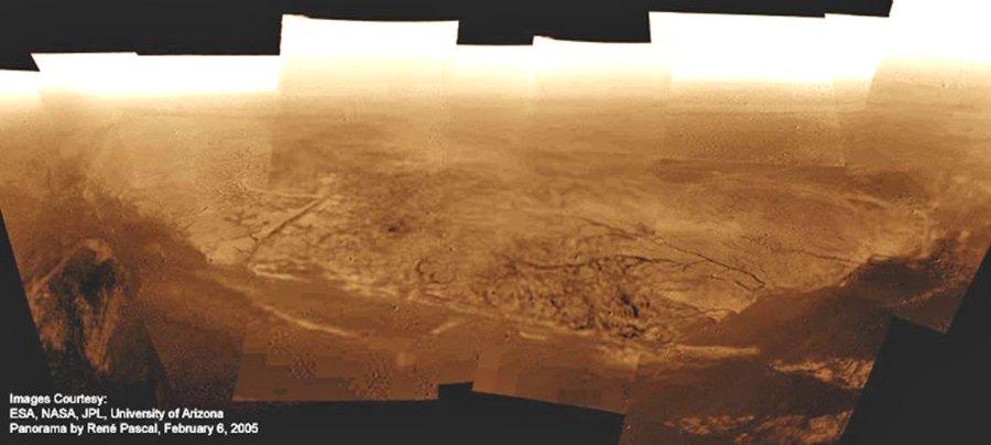 zona costera de ríos secos en Titán.